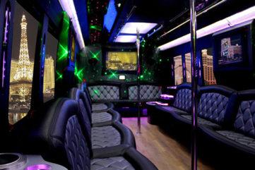 36 Passenger Party Bus Interior