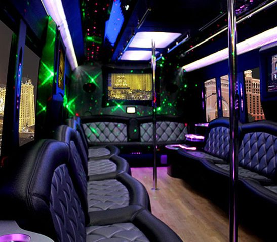 36 Passenger Party Bus Interior
